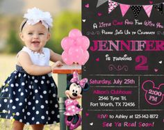 Minnie Mouse 3rd Birthday Invitation Minnie Mouse by thepartystork