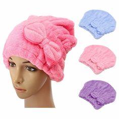 Women Quick Dry Bath Hair Makeup Cosmetics Shower Cap Bathing Tool Head Wrap Hat