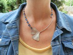 Ginko necklace in sterling silver and by calcagninigioielli