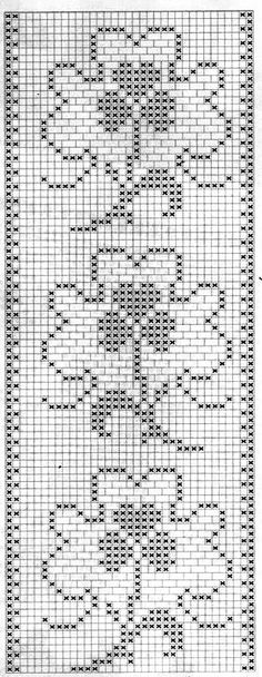 This Pin was discovered by der Crochet Borders, Crochet Squares, Filet Crochet, Crochet Motif, Crochet Doilies, Crochet Flowers, Crochet Stitches, Christmas Crochet Patterns, Holiday Crochet