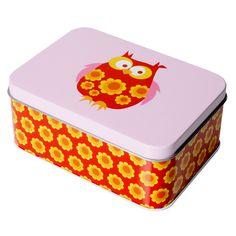 Blafre: Peltirasia pöllö, punainen Red Owl, Tin Boxes, Kids Meals, Lunch Box, Ipad, Snacks, My Favorite Things, Cool Stuff, Gifts