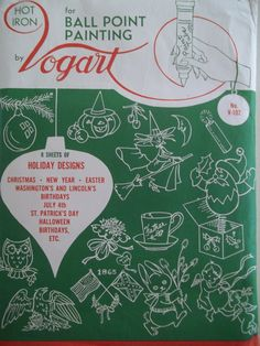 Vintage Vogart Hot Iron Transfers by PatternParlor on Etsy