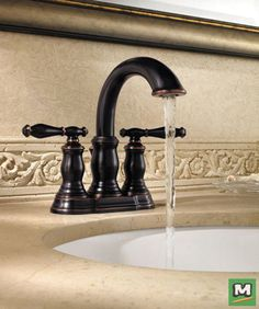 This Tuscany Audrey Two Handle Chocolate Bronze Faucet With - One piece bathroom faucet
