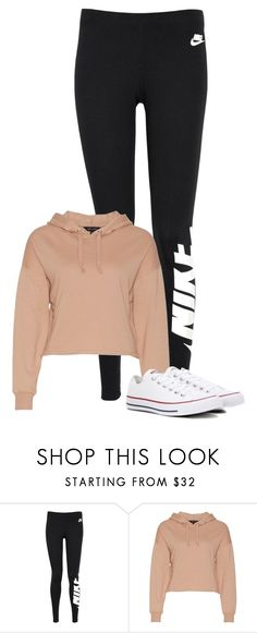 """02"" by mziecellerino ❤ liked on Polyvore featuring NIKE and Converse"