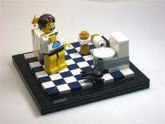 Lego Minifigure Display, Lego Minifigs, Lego Friends Sets, Lego Furniture, Lego Building Blocks, Lego Figures, Custom Lego, Toys Photography, Animales