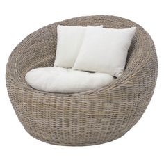 Carlos Kubu Tub Chair by Cast Iron Outdoor. Get it now or find more Outdoor Sofas & Lounge Sets at Temple & Webster. Ikea Garden Furniture, Wicker Patio Furniture, Wicker Table, Patio Chairs, Outdoor Chairs, Furniture Ideas, Furniture Online, Chairs Online, Wicker Man