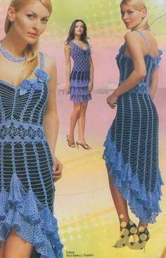 Crochet Flower Patterns Dresses Embellishment women's lace top skirt hat Magazine Duplet 91. $6.99, via Etsy.