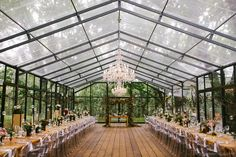 South African Forest Wedding at Die Woud -Magical South African Forest Wedding at Die Woud - The HALANI gown in Ivory/Mocha by Madi Lane Bridal Long farmhouse tables, clear chairs, and plenty of greenery create a laid-back yet elegant style Tent Wedding, Forest Wedding, Wedding Cakes, Marquee Wedding, Magical Wedding, Gothic Wedding, Glamorous Wedding, Garden Wedding, Wedding Table
