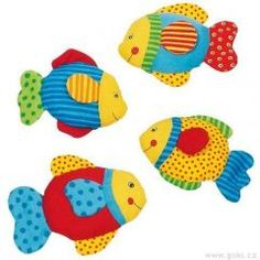 Good mood fish with crinkle foil - Gollnest & Kiesel Online Shop Crinkles, Baby Sewing, Good Mood, Goku, Yoshi, Tweety, Montessori, Pikachu, Babe