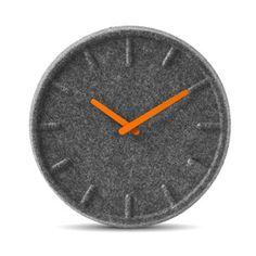 Filzuhr Grau Orange, 123€, now featured on Fab.