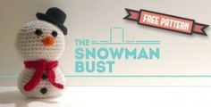 Amigurumi Snowman---plus tons of cute Ami patterns. There is a whole group to go with snowman for Christmas