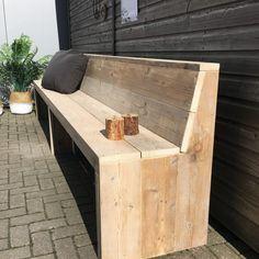 Pallet Patio Furniture, Garden Furniture, Wood Furniture, Restaurant Booth Seating, Diy Bench, Garden Seating, Diy Patio, Barn Wood, Garden Art