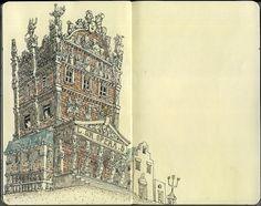 100+ Beautiful Moleskine Sketchbook Sketches | Inspiration Hut
