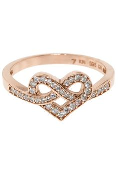 Infinity Heart Ring ♥  Wait, maybe I like this best.  How can a girl decide???