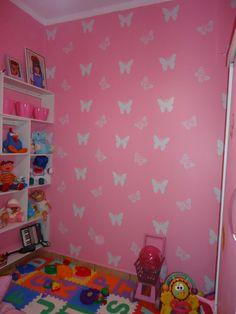 borboletas pintadas com stencil - diy