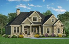 Compare Other House Plans To House Plan The Valmead Park, This traditional house plan features exceptional curb appeal and the interior layout positions rooms for ultimate privacy and convenience. Country Style House Plans, Craftsman Style House Plans, Craftsman Houses, Craftsman Interior, House Plans One Story, House Floor Plans, 4 Bedroom House Plans, Future House, Traditional House Plans