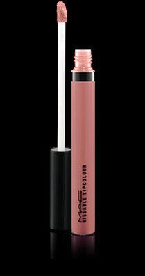 """$19 MAC Kissable Lipcolour in Woo Me. This is as pigmented as a lipstick, but feels like a non-sticky gloss. It's a perfect """"nude lip"""" if that's what you're looking for."""