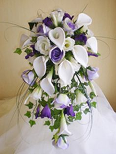 purple and white wedding bouquets | purple and white wedding bouquet?