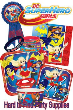 Check out the full line of DC Super Hero Girls party supplies at HardtoFindPartySupplies.com! Our licensed tableware, favors, and decorations will make for the perfect party!