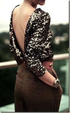 glitter and V back!!