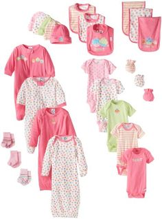 Gerber Baby-Girls Newborn Girl 26 Piece Essentials Set, Pink, 0-6 Months  $52 for 26 items =$2 an item!