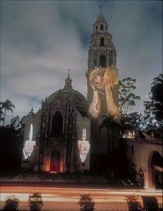Krzysztof-Wodiczko-Projection-On-The-San-Diego-Museum-Of-Man%2C-Balboa-Park%2C-painting-artwork-print.jpg (1185×1536)