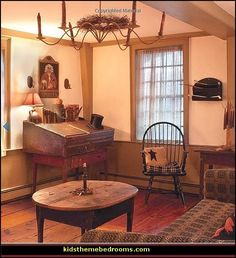 Early American Antique Primitive Furniture | Primitive Americana Style decor and decorating here