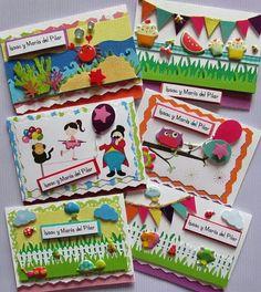 Cards for Kids. Tarjetas de presentación para niños. Facebook Crafts by Iris  @craftsbyiris