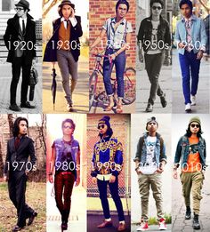 Hipster Style through the ages.