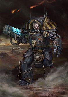 Paranoid dude by Diamondaectann on DeviantArt Warhammer 40k Art, Warhammer Models, Warhammer Fantasy, Chaos Daemons, Gundam Wallpapers, Marvel, Angel Of Death, The Grim, Space Marine