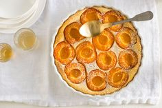 French Apricot and lemon clafoutis - SBS Fruit Dishes, Food Dishes, Dishes Recipes, Nectarine And Plum, National Dessert Day, Desserts Around The World, Quiche Dish, Cake Recipes, Dessert Recipes