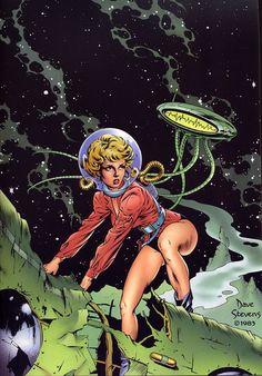 "vintagegeekculture: ""Dave Stevens, best known as the ""Rocketeer"" creator """
