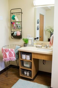 Dorm room organization and inspiration