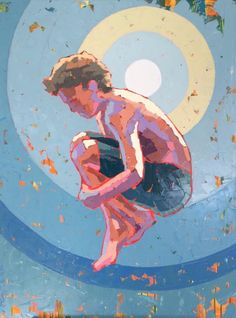 """Paul Norwood, """"The Drop"""", 40 x 30, Oil on Canvas 