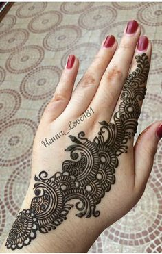 Henna Tattoo Designs Simple, Pretty Henna Designs, Latest Henna Designs, Finger Henna Designs, Full Hand Mehndi Designs, Henna Art Designs, Mehndi Designs For Girls, Mehndi Designs For Beginners, Modern Mehndi Designs