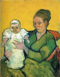 Mère avec son bébé Roulin - Vincent van Gogh