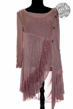 Italian Dusky Pink LAGENLOOK Tunic/Dress One Size Regular Made in Italy...hahaha..I actually already won this top :)