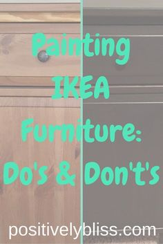 The best DIY projects & DIY ideas and tutorials: sewing, paper craft, DIY. Diy Crafts Ideas Thinking of painting or updating a piece of IKEA furniture? I scoured the internet for tutorials and tried it myself. Painting Ikea Furniture, Ikea Furniture Hacks, Painted Furniture, Ikea Furniture Makeover, Furniture Ideas, Ikea Paint, Furniture Removal, Furniture Assembly, Furniture Outlet