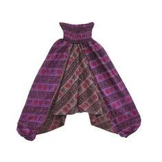 Mogulinterior Hippie Harem Pant Purple Om Ali Bab ($24.00)