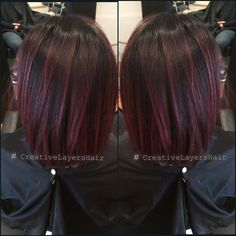 New Hair Highlights Violet Haircolor Ideas Long Wavy Hair, Dark Hair, Balayage Violet, Red Balayage Hair Burgundy, Short Burgundy Hair, Short Balayage, Undercolor Hair, Red Violet Hair, Hair Color And Cut
