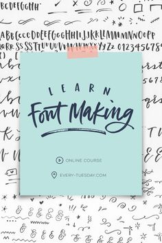 Learn how to create custom hand lettered fonts in the online course, Learn Font Making! via @teelac