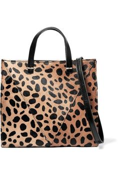 2af62f7d0e0f Clare V. - Simple mini leopard-print calf hair and textured-leather  shoulder bag