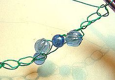 This tutorial is a crochet jewelry pattern and a free wire jewelry tutorial in one! Learn how to Crochet with Beads. Making crocheted wire jewelry is a breeze with these easy-to-follow instructions. You can use this technique to make bracelets, necklaces, and more!