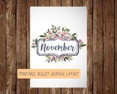 Novembre imprimable Bullet Journal mise en page
