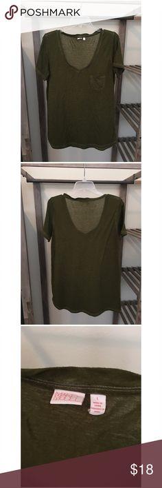 Make + Model :: Burnout T-Shirt :: Army Green Make + Model :: Burnout T-Shirt :: Army Green Make + Model Tops Tees - Short Sleeve