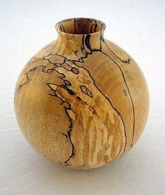 Vaso de madeira