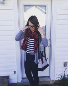 Southern Comfort Blog — My new favorite outfit! - Kate Spade purse, striped shirt, converse, scarf.