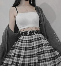 Grunge Outfits, Edgy Outfits, Cute Casual Outfits, Pretty Outfits, Gothic Outfits, Egirl Fashion, Teen Fashion Outfits, Aesthetic Grunge Outfit, Aesthetic Clothes