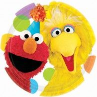 Big Bird and Elmo are here to share a piece of cake and ice cream with you! The 7 inch Sesame Street Party Paper Dessert Plate features Big Bird and Elmo on a white background accented by pastel polk Sesame Street Cake, Sesame Street Birthday, Elmo Birthday, 2nd Birthday Parties, Birthday Ideas, Happy Birthday, Birthday Desserts, Party Desserts, Sesame Street Party Supplies