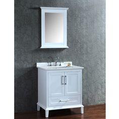 "Found it at Wayfair - Nantucket 30"" Single-Sink Bathroom Vanity Set with Mirror"